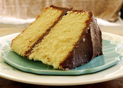yellow butter cake with chocolate frosting recipe dishmaps