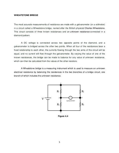 wheatstone bridge discussion thevenin s theorem and wheatstone bridge experiment 4