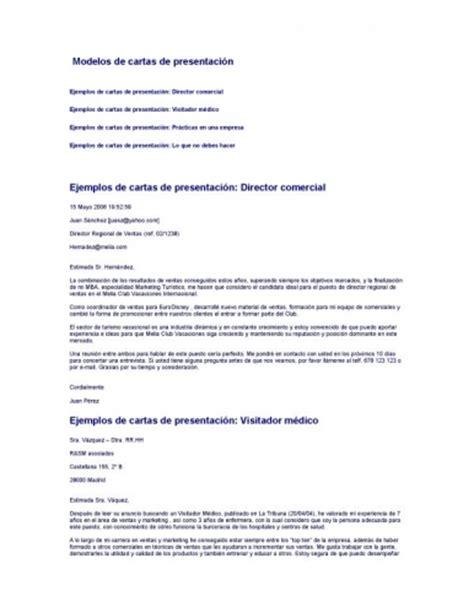 Modelo Carta De Presentacion Curriculum Argentina Documento Modelos Cartas Presentacion Cv Hojas De Vida Grupos Emagister