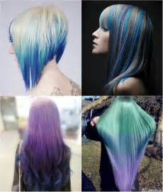hair styes dye at bottom blue and violet ombre hair color you can try out in 2013