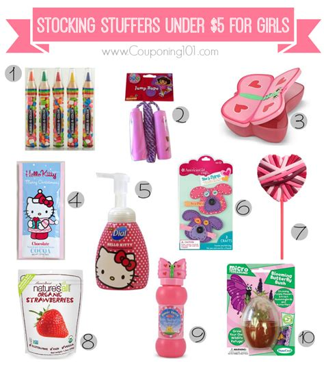 christmas stocking stuffers 10 stocking stuffer ideas for girls for 5 or less