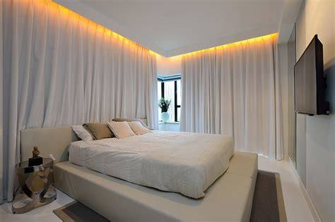 long bedroom curtains long white drapes turn the bedroom into a serene