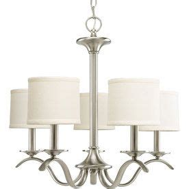 brushed nickel kitchen table progress lighting inspire 5 light brushed nickel