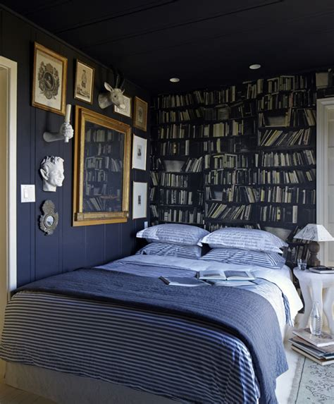 navy bedroom walls navy blue accent wall design ideas