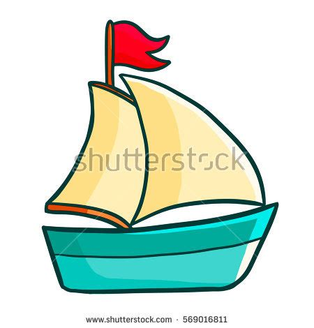 cartoon pic of boat sailing cartoon stock images royalty free images
