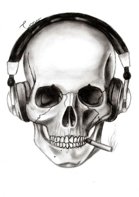 Skull Headphones skull with headphones skull and headphones by