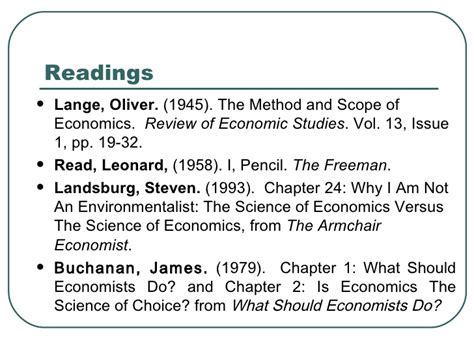the armchair economist review the scope and method of economics