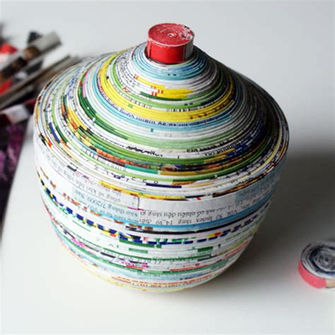 Recycled Magazine Paper Crafts - recycled craft ideas