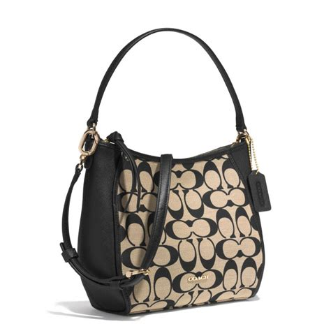 Coach Legacy In Signature B014 lyst coach legacy top handle bag in printed signature