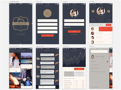 mobile app free templates compass a free app template for sketch
