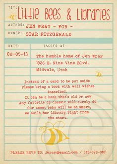 Library Card Baby Shower Invitation Template by Listing Is For One 5 X 7 Blank Printable Library Card