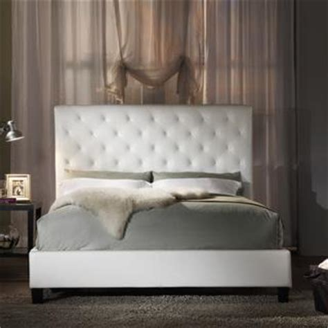 white headboard full size bed full size bed overstockcom white vinyl tufted full bed