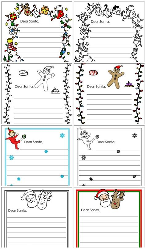 Free Santa Letter Notepaper Dear Santa Letter Template