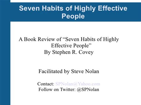 The 7 Habits Of Highly Effective By Stephen Rcovey 7 habits of highly effective session 2