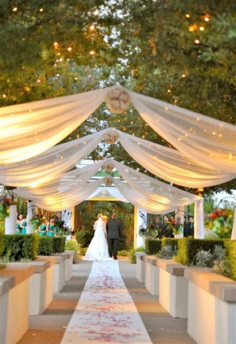 drapes and lights for weddings diy wedding decor using fabric curtains