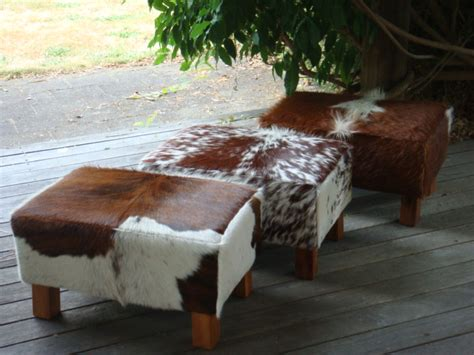 cowhide bar stools nz cowhide foot stool coastal cowhidescoastal cowhides