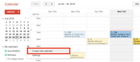 Create New Calendar How To Automatically Reshare Your Social Media Updates