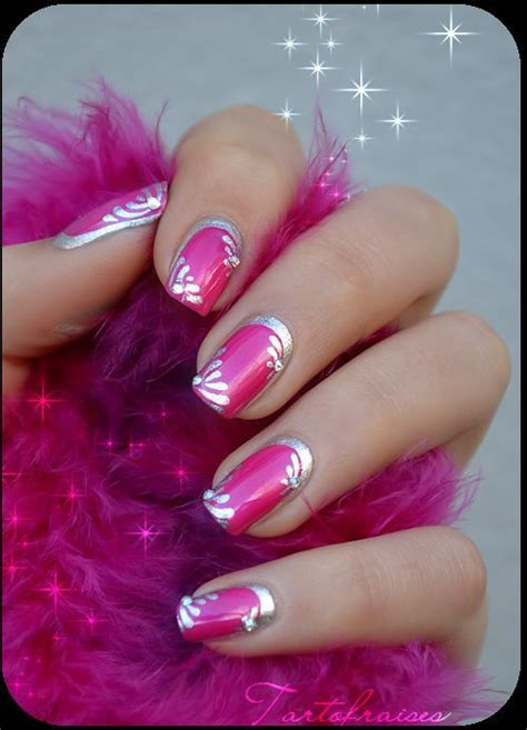 nails for older women 2014 hot pink and silver nail art pictures photos and images