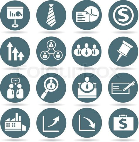 office and business vector icons set on gray royalty free stock images image 33973149 office and business icons set in buttons stock vector colourbox