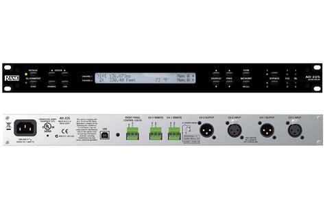 Audio Rack Mount by Rane Pro Audio Ad 22s Rack Mount Audio Delay With Distance
