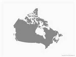 vector map of canada single color free vector maps
