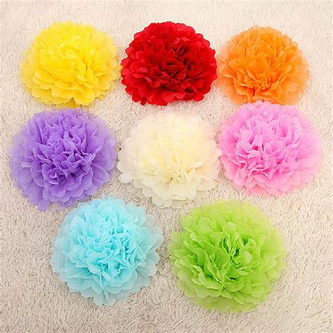 How To Make Pom Pom Balls With Tissue Paper - 30pcs mixed 3 sizes 6 8 10 tissue paper pom poms flower