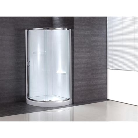 38 Shower Door Ove Decors 38 In X 38 In X 76 In Shower Kit With Reversible Sliding Door And Shower Base