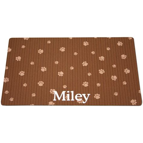 Cat Box Mat by Drymate Brown Paw Print Personalized Cat Litter Box