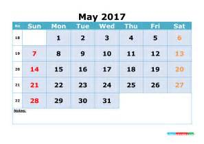 Calendar 2018 Printable With Week Numbers May 2017 Calendar Printable With Week Numbers Cornflower