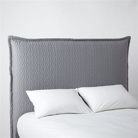 headboard slipcovers matelasse slipcover headboard feather gray west elm