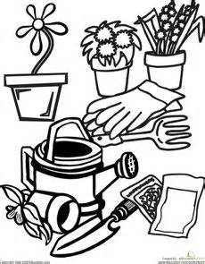 coloring page garden tools 1000 images about gardening on pinterest worksheets