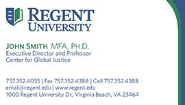 Mba Name Card by Regent Purchasing Department Stationery And