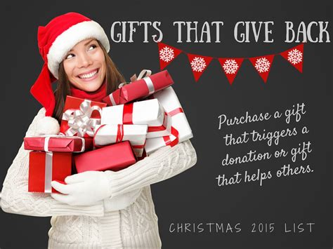 holiday gifts that give back a gift to benefit needy