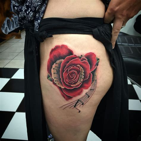 music rose tattoo morf had doing this one