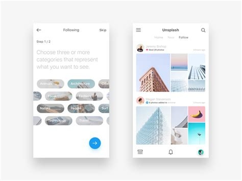 App Design Vorlagen 56 Exles Of Content Layout Muzli Design Inspiration