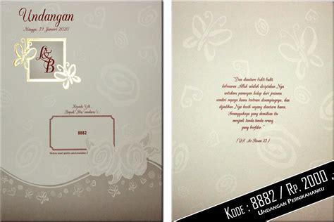 desain undangan pernikahan harga 2000 undangan pernikahan softcover rp 2000 undangan