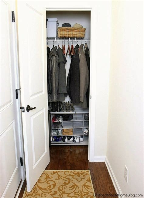 Coat Closet Design Tips For Organizing Your Coat Closet Celebrations At Home