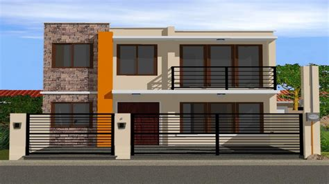 simple two story house modern two story house plans two storey house designs simple two storey house design