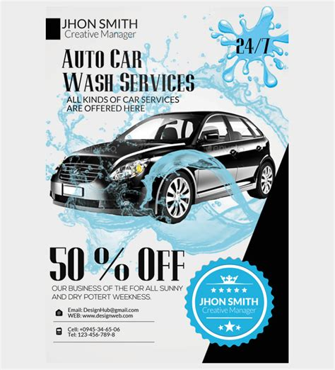 25 car wash flyers psd vector eps