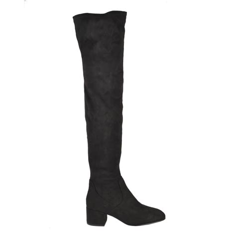 shop thigh high boots at ash boots in black faux