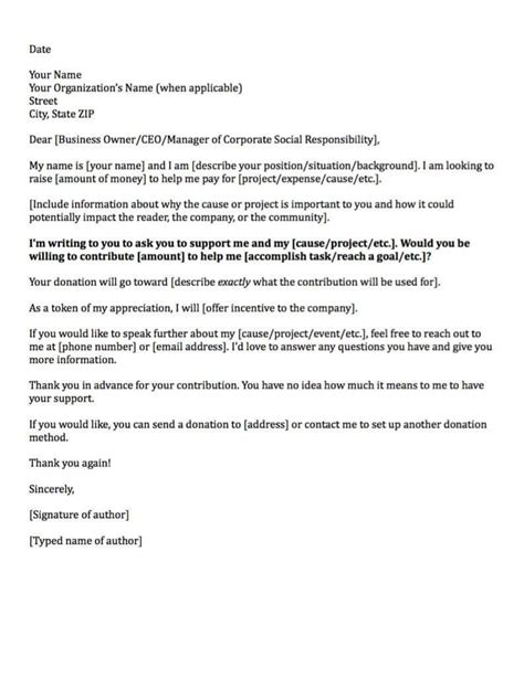 charity cover letter exles donation request letters asking for donations made easy