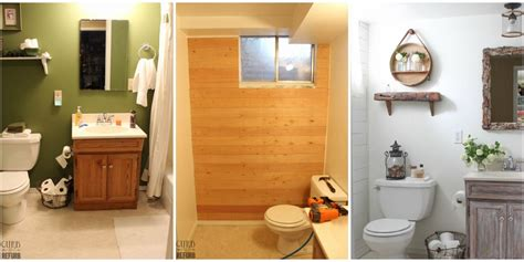 Bathroom Makeover Cost by This Rustic Bathroom Makeover Cost Less Than 100