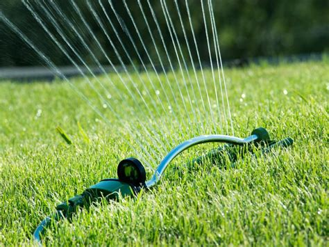 water sprinkler learn the right way to water your lawn diy