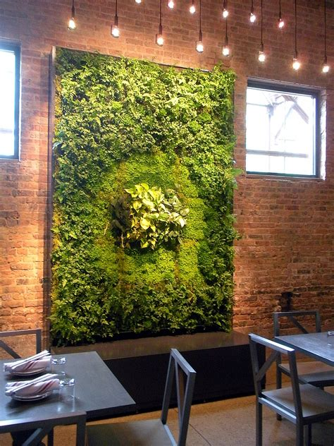 Vertical Garden Restaurant Green Walls Living Walls Vertical Gardens Wall Gardens