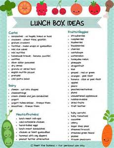 printable lunchbox idea list from meet the dubiens a recipe hut