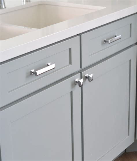 armoire hardware centsational remodel features white gray kitchen cabinets