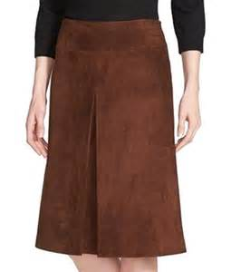 nordstrom collection s size 10 leather skirt brown
