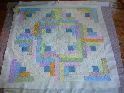 Log Cabin Baby Quilt by Log Cabin Baby Quilt With Teddy Quilting