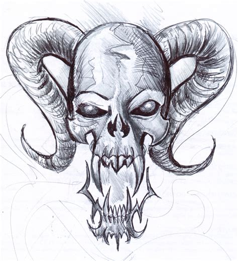 skull 5 fast sketch by penerari on deviantart