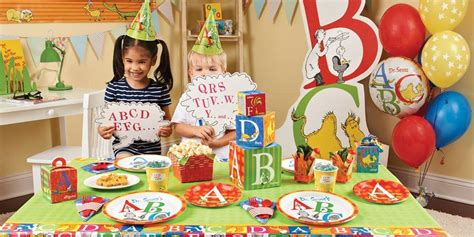 party themes like abc dr seuss abc birthday supplies the birthday depot
